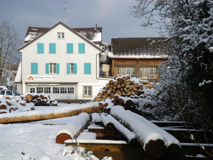 Wohnen am Dorfbach, früher die Eilinger Holz AG