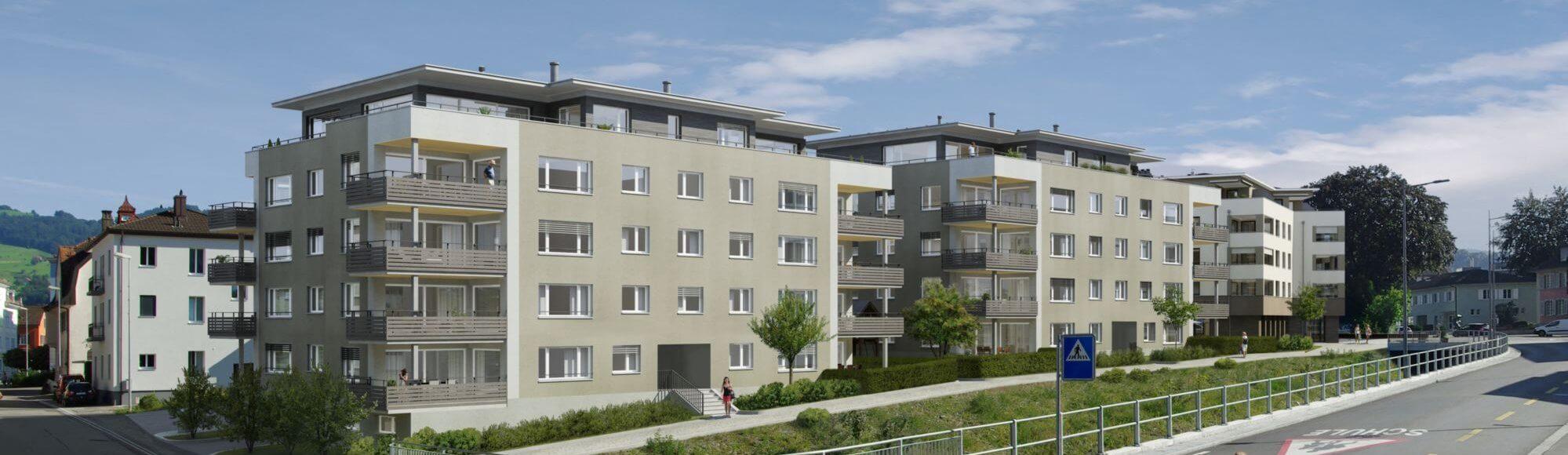 Visualisierung «Wohnen am Dorfbach»